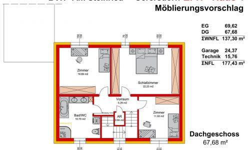 Concepta Neues Projekt-Am Steinried in 3385 Gerersdorf-Grundriss Haus 1 - DG-1