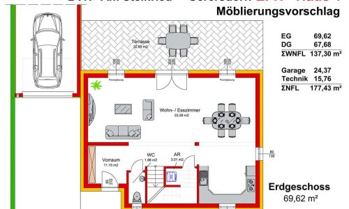 Neues Projekt-Am Steinried in 3385 Gerersdorf-Grundriss Haus 1 - EG-1