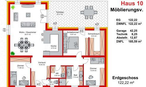 Neues Projekt-Am Steinried in 3385 Gerersdorf-Grundriss Haus 10-1