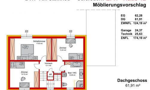 Neues Projekt-Am Steinried in 3385 Gerersdorf-Grundriss Haus 12 - DG-1