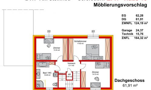 Neues Projekt-Am Steinried in 3385 Gerersdorf-Grundriss Haus 13 - DG-1