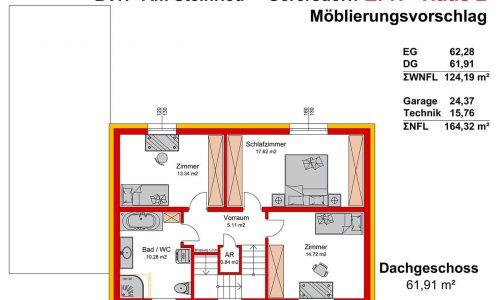 Neues Projekt-Am Steinried in 3385 Gerersdorf-Grundriss Haus 2 - DG