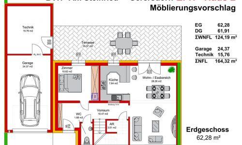 Neues Projekt-Am Steinried in 3385 Gerersdorf-Grundriss Haus 2 - EG