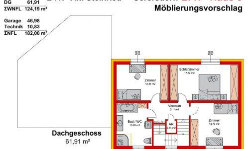 Neues Projekt-Am Steinried in 3385 Gerersdorf-Grundriss Haus 5 - DG