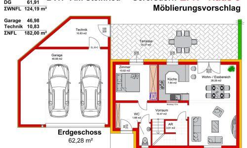Neues Projekt-Am Steinried in 3385 Gerersdorf-Grundriss Haus 5 - EG