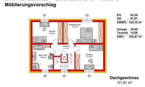 Concepta Neues Projekt-Am Steinried in 3385 Gerersdorf-Grundriss Haus 9 - DG-1