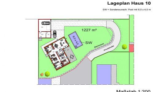 Concepta Neues Projekt-Am Steinried in 3385 Gerersdorf-Lageplan Haus Nummer 10