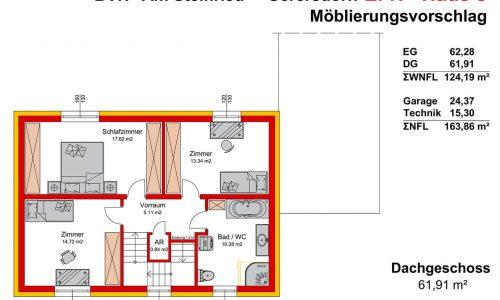Neues Projekt in 3385 Gerersdorf-Am Steinried-Grundriss Haus 8 Dachgeschoss