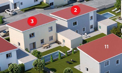 Concepta-Wohnbau-Neues-Projekt-Am-Steinried-in-3385-Gerersdorf-Vogelperspektive-Haus-Nummer-2-und-3-vom-Garten-aus