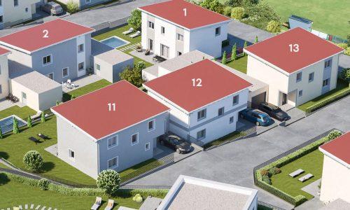 Concepta-Wohnbau-Neues-Projekt-in-3385-Gerersdorf-Haus-Nummer-11-12-13-vom-Eingang-aus